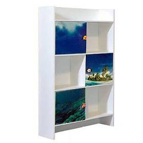 Шкаф книжный Мульти Дельфины (Світ Меблів ТМ)