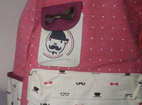 Городской рюкзак с принтом усы