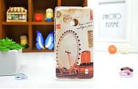 Силиконовый чехол накладка для Nokia Lumia 520 / 525 с рисунком Лондонский глаз