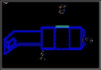 Резец расточной для обработки глухих отверстий