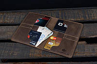 Мужской кожаный кошелек/портмоне Флагман, коричневый