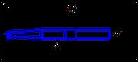 Резец расточной для обработки сквозных отверстий  ГОСТ 18882