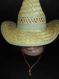 Соломенная шляпа на лето для мужчин, фото 3