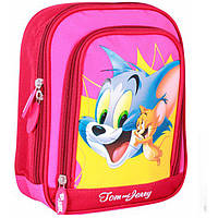 "Ранец CF16 TJ02819 розовый ""Tom and Jerry"" дошк., 24х19,5х8 см,полиэстер, 2отд., 2-5 лет, 250г"