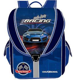 """Ранец CF16 CF85633 синий """"Blue Car"""" 710, 35,5х28х21 см, каркасний-трансформер,ортоп. спинка, 1-4 класс"""