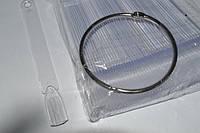 Палитра веер на кольце для образцов лаков прозрачная 50 штук