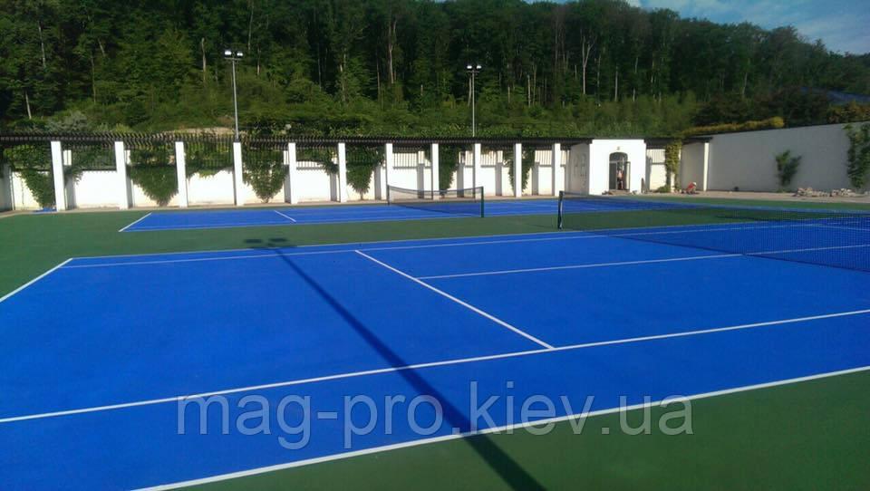 Бесшовные резиновые и акриловые покрытия  для тенниса
