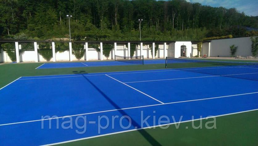 Бесшовные резиновые и акриловые покрытия  для тенниса, фото 2
