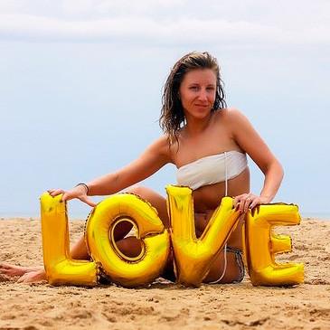 фольгированные буквы Любовь