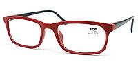 Очки для чтения «SOS» (унисекс) P 14149 +2,50, Mat Red-Black