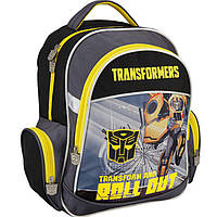 "Рюкзак Kite16 TF16-510S серо-желтый ""510 Transformers"" размер 38х29х13см, вес 800г, объём 14л, ортопедическая спинка"