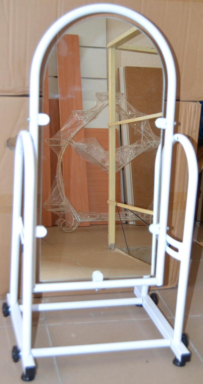 Зеркало обувное белое