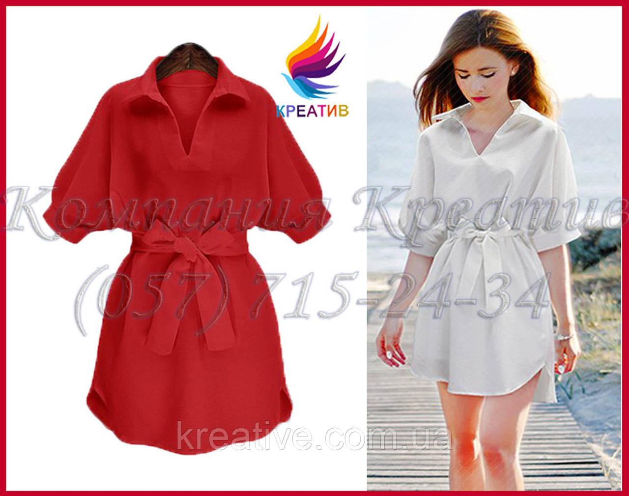 Женское платье - рубашка под заказ (от 50 шт.)