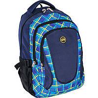 "Рюкзак CF16 CF85670 синий ""Drops"", 43х31х22 см, полиэстер, ортопед. спинка, Laptop карман,3 отделения"