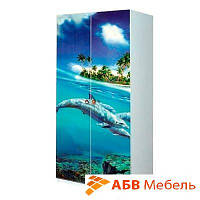 Шкаф 2D Мульти Дельфины (Світ Меблів ТМ)