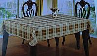 Скатерть кухонная с клеточка оливка, фото 1