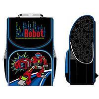 """Ранец Smart16 PG-11 -553023 черный 34х26х14, каркасный PG-11 """"Robot"""", ортоп/спин, упл/дно, полиэстр"""