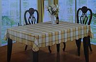 Скатерть кухонная с клеточка песочная, фото 1