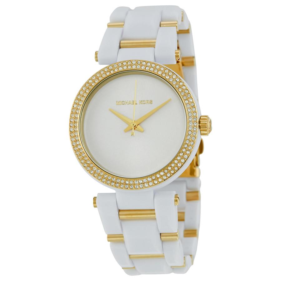 Часы Michael Kors Delray Pave White Acetate МК4315