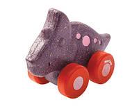 """Деревянная игрушка """"Трицератопс на колёсиках"""", Plan Toys"""