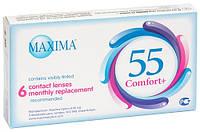 Контактные линзы на 1 месяц  Maxima 55 Comfort Plus  (6 шт.)