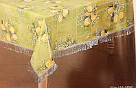 Скатерть кухонная салатовая с лимонами Винил, фото 1