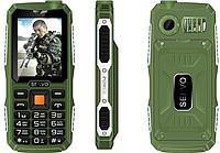 Противоударный телефон Servo V3 -  4 sim, фонарик, Green ' ' ' ', фото 1
