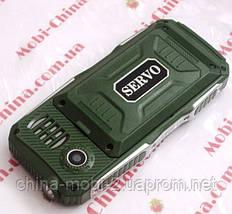 Противоударный телефон Servo V3 -  4 sim, фонарик, Green ' ' ' ', фото 2