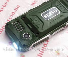 Протиударний телефон Servo V3 - 4 sim, ліхтарик, Green, фото 2