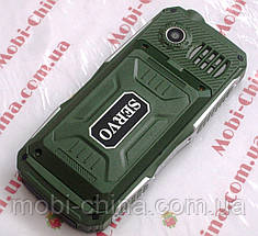 Противоударный телефон Servo V3 -  4 sim, фонарик, Green ' ' ' ', фото 3