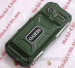 Противоударный телефон Servo V3 -  4 sim, фонарик, Green , фото 3