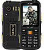 Противоударный телефон Servo V3 -  4 sim, фонарик, black