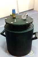 Маленький черный газовый автоклав на 12 банок по 0,5 л/на 5 банок по 1 л DI