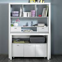 Письменный складной комплект: стол, шкаф, тумба  из массива дерева 018