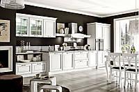 Кухня на заказ BLUM-005 c крашеными фасадами