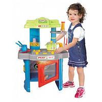 Игрушечная кухня 008-26А, свет, звук, духовка, вытяжка, посуда в комплекте, 62см, разноцветная