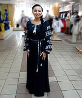 Женское вышитое платье из льна 1510 6f6345086533f