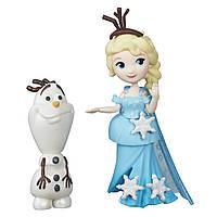 """Игровой набор Маленькие куклы Холодное Сердце с другом """"Эльза и Олаф"""", B5185"""