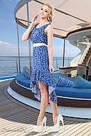 Асимметричное летнее платье из штапеля 42-48 размеры, фото 1