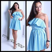 Женское нежное летнее платье в клетку (2 цвета)