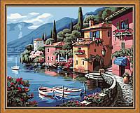 Картина по номерам без коробки Идейка Итальянская набережная  (KHO103) 40 х 50 см