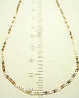 Цепочка ХР позолота 18К КАРТЬЕ гладкие звенья 45 см