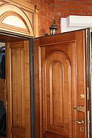 Накладки на входную дверь,из массива дерева, двери деревянные с обналичкой