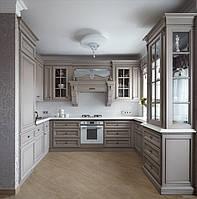Кухня на заказ BLUM-008 c крашеными фасадами