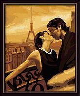 Рисование по номерам без коробки KHO045 Мечтами в Париже (40 х 50 см) Идейка