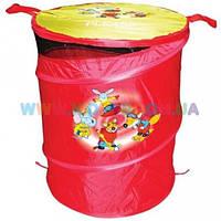 Бочка для игрушек красная Devik Play ТО303В