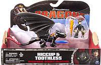 Набор фигурок Spin Master Dragons Иккинг и дракон Беззубик с резиновыми зарядами (SM66594-1)