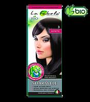 """Крем-краска для волос La Fabelo №3 """"Крепкий кофе"""" Темный каштан 50ml Италия"""
