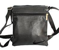 Мужская сумка на плечо в стиле Nike черная (М-01m)