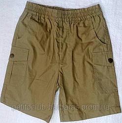 Детские хлопковые шорты с накладными карманами для мальчика